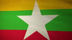 Flag Myanmar 04 Stock Footage