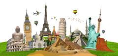 Illustration of famous monument of the world - stock photo