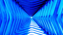 Broadcast Endless Hi-Tech Tunnel 17 - stock footage