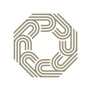 Logo octagon line abstract vector - stock illustration