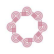 Logo octagon line abstract vector Stock Illustration