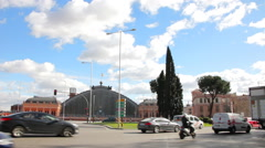 Atocha station in Madrid. Traffic car Stock Footage