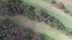Vertical Down Shot of Golf Course Stock Footage