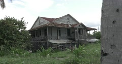 Old Beach House in Cuba Falling Apart - stock footage