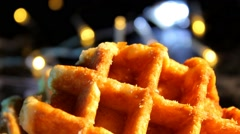 Food - Waffles - chocoloate - cookies 02 Stock Footage