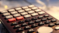 Blueprint  - calculator 003 Stock Footage