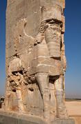 Ancient Persian Achaemenid Lamassu in Persepolise of Shiraz Kuvituskuvat