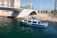 La Manga - SPAIN, AUGUST 25 2014: Pleasure boat - stock photo