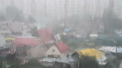 Heavy rain pouring outside - stock footage
