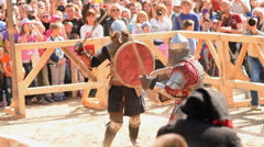 Jousting contest nowadays Stock Footage