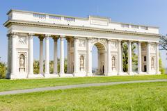 Colonnade on Reistna, Czech Republic - stock photo