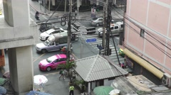 BANGKOK, CIRCA 2015: Infested Asian street traffic Stock Footage