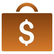 Bookkeeping Case Gradient Vector Icon Stock Illustration