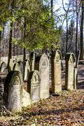 Jewish cemetery, Luze, Czech Republic Stock Photos