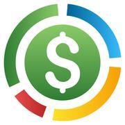 Financial Diagram Gradient Vector Icon - stock illustration