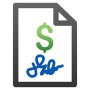 Invoice Gradient Vector Icon - stock illustration