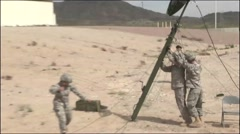 ARIZONA USA, MARCH 2016, Five US Soldier Prepare Build Up Antenna Stock Footage