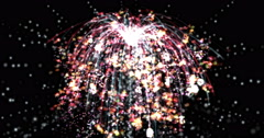 Digital Particle Animation of a Firework - stock footage