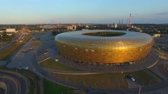 Aerial: The Stadion Baltic Arena Stock Footage