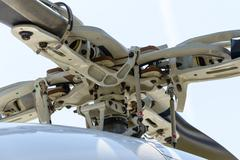 Helicopter rotor detail Stock Photos