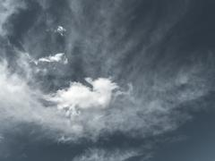 Desaturated sky background - stock photo
