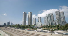 Time Lapse of high rise buildings in Tel Aviv, Israel - stock footage