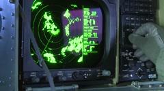 AEGEAN SEA, MARCH 2016, Display Radar System Greek Frigate Salamis Stock Footage