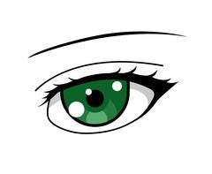 Anime girl's green eye Piirros