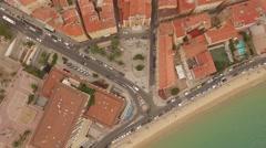 Aerial Drone Corsica Ajaccio City Top Stock Footage