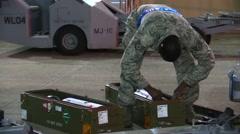 FORT WALTON USA, MARCH 2016, Close Up US soldier Check Rocket Detonator - stock footage