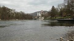 Aarburg Castle in Switzerland Stock Footage