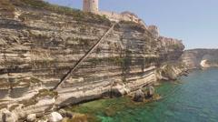 Stock Video Footage of Aerial Drone Corsica Bonifacio