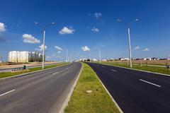 small paved road - stock photo