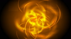 Tech glowing orange abstract video animation Stock Footage