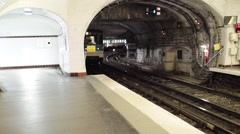 PARIS – JUNE 12, 2015: City subway station. Metro is the best way to move along - stock footage