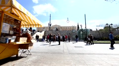 ATHENS, GREECE - MARCH 19th 2016, people going out from metro on Syntagma square - stock footage