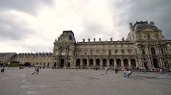 PARIS – MAY 29, 2015: Louvre museum. The Louvre is the most famous french museum Stock Footage