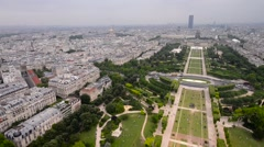 Aerial view of Paris from Eiffel Tower - stock footage