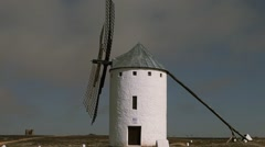 Windmill in La Mancha Stock Footage