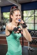 Female trainer blowing whistle Kuvituskuvat