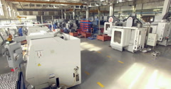Modern plant inside. Factory view Stock Footage