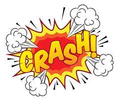 Cartoon Comic Book Crash Explosion Sound Effect - stock illustration