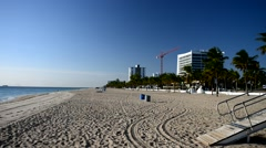 Fort Lauderdale beach on a beautiful day Stock Footage