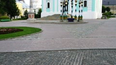 Five-tiered Lavra Bell Tower in Trinity Lavra - stock footage