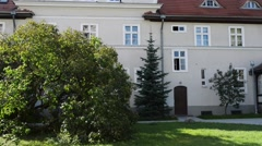 Bishop House near All Saints Church in Poznan Stock Footage