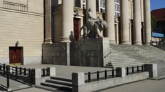 Great Theatre, Poznan, Poland Stock Footage