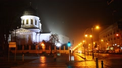 St Nicholas Orthodox Church in Bialystok Stock Footage