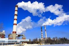 Power plant, industry Stock Photos