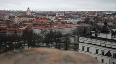Vilnius, city view, old, history district, streets, Europe  Stock Footage