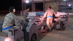 FORT WALTON USA, MARCH 2016, Full Shot US Soldier Drive Wheeler For Rockets - stock footage